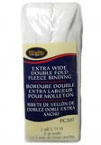 Wrights Extra Wide Double Fold Fleece Binding #207 - White #30