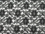 Wholesale Floral Lace - Black,  25 yards