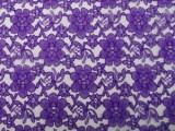 Wholesale Floral Lace - Purple,  25 yards
