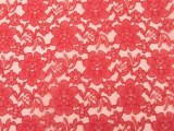 Wholesale Floral Lace - Red,  25 yards