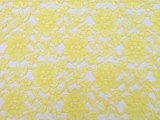 Wholesale Floral Lace - Yellow,  25 yards