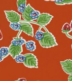 Oilcloth - Forever Strawberries Red