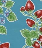 Oilcloth - Forever Strawberries Sky Blue