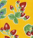 Oilcloth - Forever Strawberries Yellow