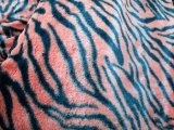 Wholesale Minky Animal Print Fur Fabric - Tiger #20   12 yards