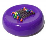 GrabbIt Magnetic Pin Cushion - Purple