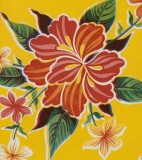 Wholesale Oilcloth - Hibiscus Yellow - 12 yds