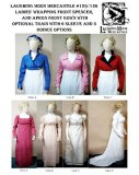 Laughing Moon #129/#126 - Ladies' Regency Wrapping Front Spencer and Apron Front Gown
