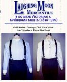 Laughing Moon #107 - Men's Victorian & Edwardian Shirts & Neckwear Sewing Pattern