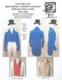 Laughing Moon #122 - #123 - Men's Empire & Regency Tailcoat with Slip Vest & Vest C 1806-1830