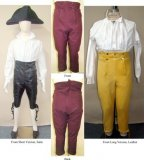 Laughing Moon #127 - Men's Georgian and Regency Narrow Fall Front Breeches - Pants Sewing Pattern