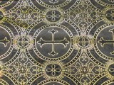 Wholesale Metallic Church Brocade - Black- Gold 25 yards ***Temporarily out of Stock***