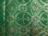 Metallic Church Brocade Green-Gold