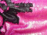 Mermaid Reversible Sequin Knit - Fuschsia-Matte Black