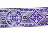 Trim - Royal Brocade - Purple and Silver