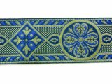 Trim - Royal Brocade - Royal and Gold