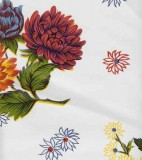 Oilcloth - Mums White