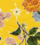 Wholesale Oilcloth - Mums Yellow - 12yds