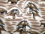 Polar Fleece Print - Horses