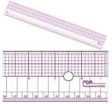 Tailoring Supplies - Transparent Grading Ruler #808B, 18 inch x 2 in with grid