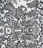Oilcloth - Paradise Lace Black on White