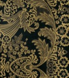 Wholesale Oilcloth - Paradise Lace Gold on Black - 12 yds