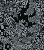 Oilcloth - Paradise Lace Grey on Black
