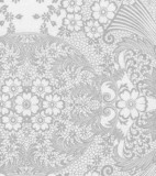 Oilcloth - Paradise Lace Silver on White