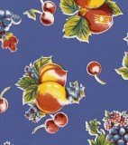 Oilcloth - Pears and Apples Blue