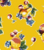 Oilcloth - Pears and Apples Yellow
