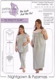 Petite Plus #401 Simple Yoked Nightgown and Pyjamas