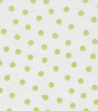 Oilcloth - Polka Dots - Lime Green Dots on White