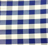 Wholesale Poplin Gingham - Royal Cafe Check - Picnic Cloth - 25 yards