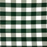 Wholesale Poplin Gingham - Hunter Cafe Check - Picnic Cloth - 25 yards