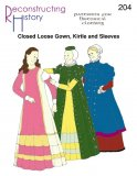 Reconstructing History Pattern #RH204 - Elizabethan Closed Loose Gown, Kirtle and Sleeves