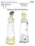 Reconstructing History Pattern #RH838 - Regency Evening Dress