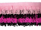 Rainbow Fringe - #M - Light Pink - Black - Hot Pink   -  3.5""