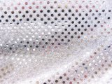 Wholesale Faux Sequin Knit Fabric - 1126 Silver  25 yards