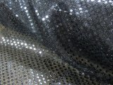 Wholesale Faux Sequin Knit Fabric - 1127 Black  25 yards