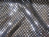 Faux Sequin Knit Fabric - 1131 Silver-Black