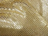 Wholesale Faux Sequin Knit Fabric - 226 Gold  25 yards