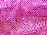 Faux Sequin Knit Fabric - 529 Fuchsia