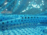 Wholesale Faux Sequin Knit Fabric - 932 Turquoise  25 yards