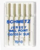Schmetz Magazine Jersey Ball Point Needles, size 70/10