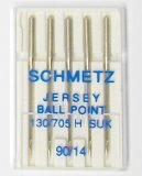 Schmetz Magazine Jersey Ball Point Needles, size 90/14