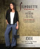 Silhouettes #3414 Jag's Woven Yoga Pants - Sizes 1-4 & 5w-8w