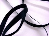 "Silk Satin Ribbon 1/4"" Black"