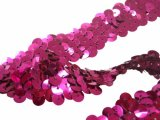 Stretch Sequins Trim- Fuchsia 3/4""