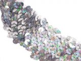 Stretch Sequins Trim- Spot Silver 1.5""
