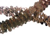 Stretch Sequins Trim- Mettalic Brown 3/4""